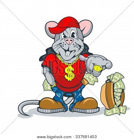 Rich Rat Showing An Abundance Of Wealth