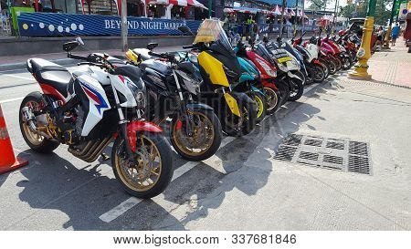 Rental Bikes On The Side For Tourists In Patong, Phuket, Thailand 18/11/2019