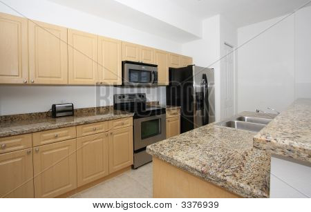 Kitchen View With Granite