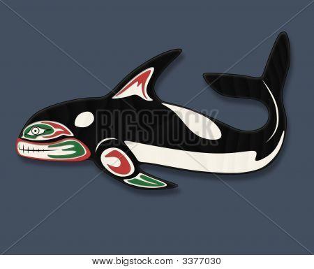 Orca-Wal-Totem