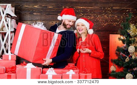 Surprising Her. Household Appliances And Home Goods. Preparing Presents For Christmas. New Year Gift