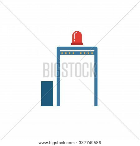 Metal Detector Icon. Simple Element From Security Icons Collection. Creative Metal Detector Icon Ui,