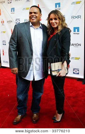 NEW YORK-MAY 31: DJ Enuff and Angie Martinez attend the 4th annual Tuck�s Celebrity Billiards Tournament on May 31, 2012 in New York City.