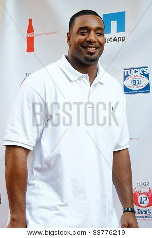 NEW YORK-MAY 31: New York Giants defensive end Chris Canty attends the 4th annual Tuck�s Celebrity Billiards Tournament on May 31, 2012 in New York City.