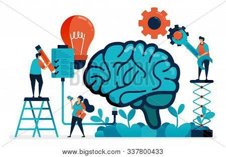Use Artificial Intelligence To Complete Tasks. Multitasking System In Artificial Brain. Ideas And In