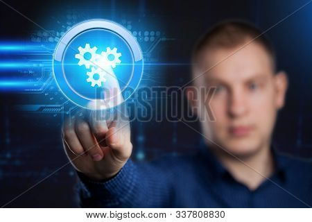 Business, Technology, Internet And Network Concept. Automation Software Technology Process System