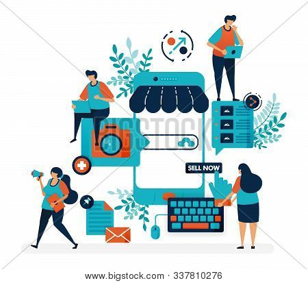Marketplace Platform For Selling With Smartphone. Create Shop Or Business With A Mobile System. Onli