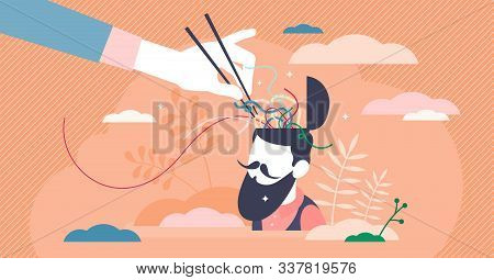 Confusion Vector Illustration. Mixed Thoughts In Flat Tiny Persons Concept. Mind Uncertainty From Di