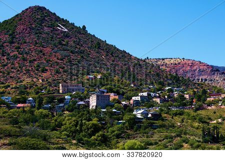 October 17, 2019 In Jerome, Az:  Historic Mining Town Of Jerome, Az With Winding Streets And Vintage