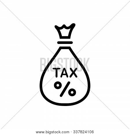 Black Line Icon For Tax Exemption Save Fund