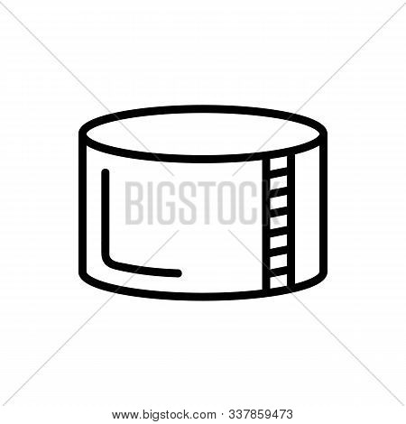 Reservoir With Water Icon Vector. Thin Line Sign. Isolated Contour Symbol Illustration