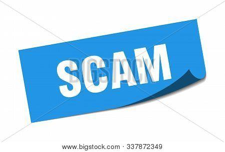 Scam Sticker. Scam Square Isolated Sign. Scam