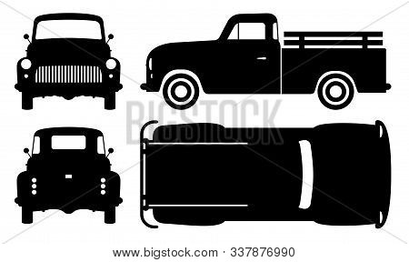 STENCIL Vintage Retro Truck  10x6