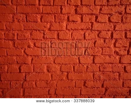 Brick Walls Show Pattern Stack Block Rough Surface Texture Material Background Weld The Joints With