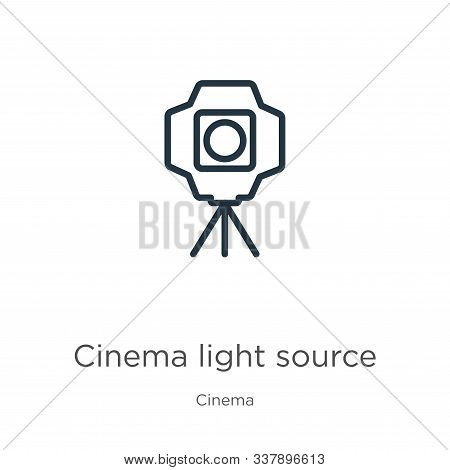 Cinema Light Source Icon. Thin Linear Cinema Light Source Outline Icon Isolated On White Background