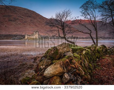 Kilchurn Castle Looking Over Loch Awe In The Scottish Highlands The Castle Built In The 15th Century