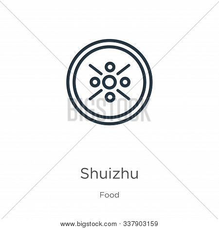 Shuizhu Icon. Thin Linear Shuizhu Outline Icon Isolated On White Background From Food Collection. Li