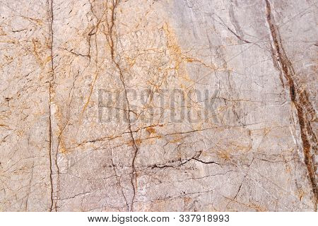 Marbling Texture Design. Beige Marble Pattern. Fluid Art. Wall Texture With Cracks Beige Marble Back