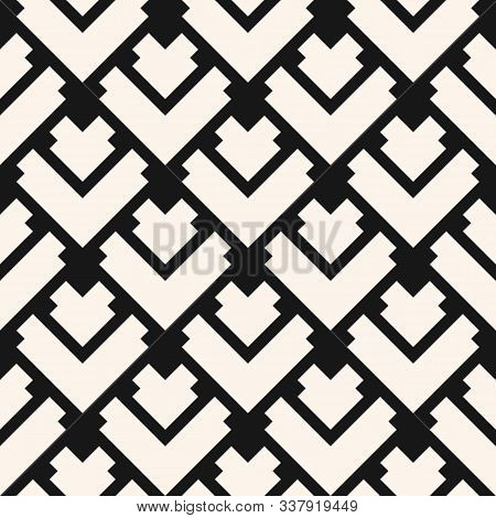 Vector Geometric Seamless Pattern With Rhombuses, Diamonds, Squares, Tiles, Lines, Rectangles, Grid,