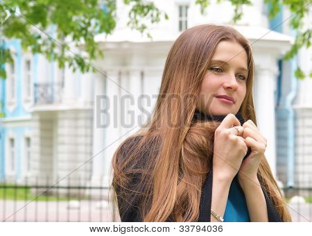 Lonely Upset Womanl In The Park