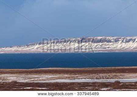 Iceland Weather And Icelandic Landscape, Winter In Iceland, Sunny Day In Winter, Icelandic Bayshore,