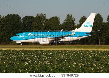Amsterdam / Netherlands - July 3, 2017: Klm Royal Dutch Airlines Boeing 737-700 Ph-bgg Passenger Pla
