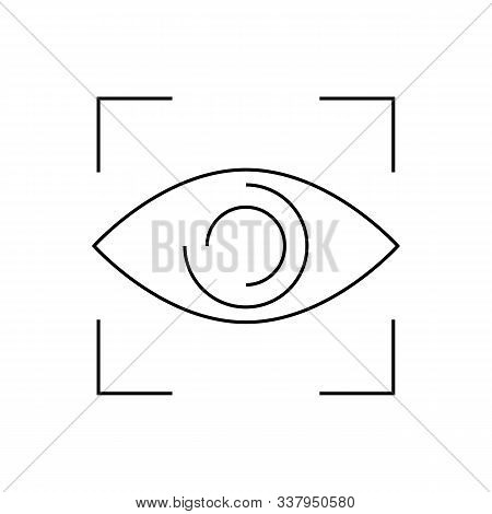 Eye Close Up Visibility Button Icon Vector. Trendy Flat Eye Close Up Visibility Button Icon From Use