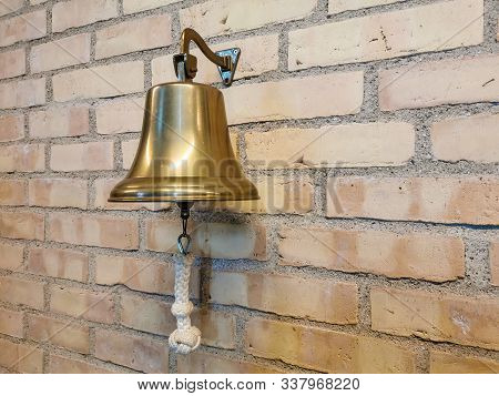 Collectable Emergency Brass Bell And Its Rope