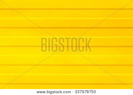 Yellow Texture. Yellow Fence With Horizontal Lines. Yellow Background. Abstraction