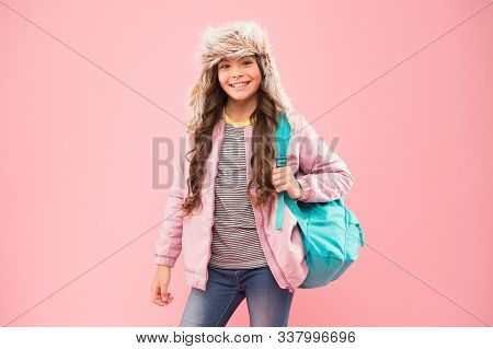 Hipster Style. Modern Backpack For Daily Life. Teen Fashion. Schoolgirl Street Style Clothes With Cu