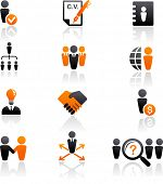 collection of human resources icons poster