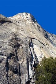 El Capitan Against A Vivid Blue Sky In Yosemite National Park