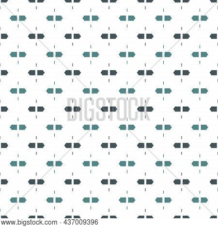Seamless Surface Pattern With Strokes. Broken Horizontal Lines. Dashes Motif. Repeated Rectangle Blo