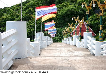 Stone Stairs Pathway For Thai People And Foreign Travelers Walking To Travel Visit Viewpoint Ko Sich