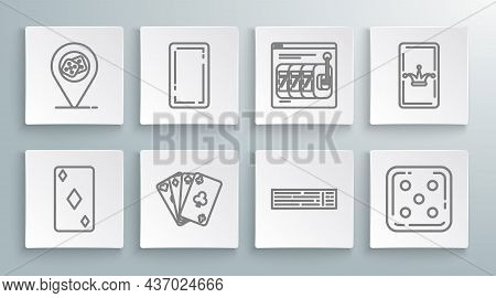 Set Line Playing Card With Diamonds Symbol, Back, Cards, Deck Of Playing, Game Dice, Online Slot Mac