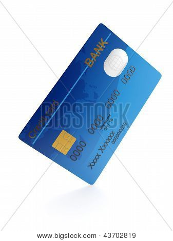 3D Illustration: Credit Card Close-up