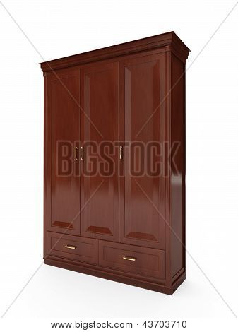 3D Illustration: Closet On A White Background