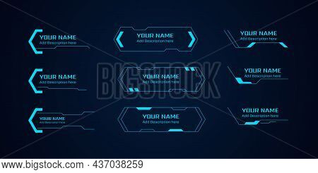 Set Of Sci Fi Modern User Interface Elements. Futuristic Abstract Hud. Good For Game Ui. Lower Third