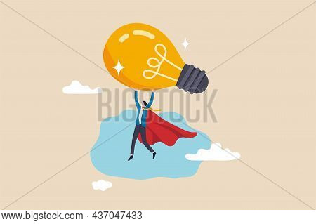 Big Idea To Boost Business Success, Super Power Or Creativity To Win Business Competition, Innovatio