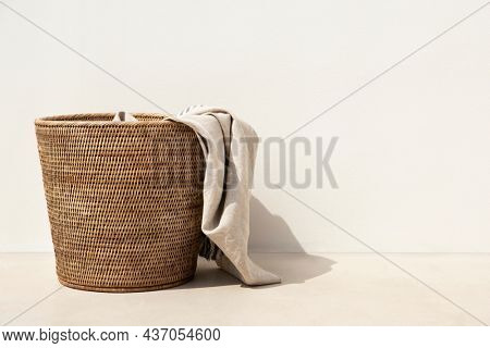Weaved laundry basket laundry essential in minimal style