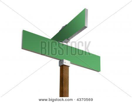 grüne Straßenschild
