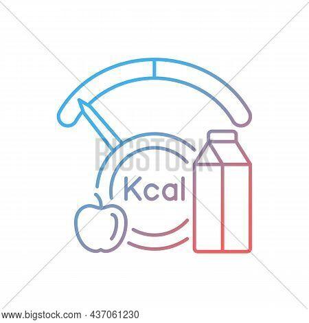 Insufficient Calories Consumption Gradient Linear Vector Icon. Inadequate Nutrients Consumption Lead