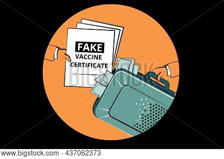 Fake Vaccine Certificates Struggle. Covid Death In Ukraine. Corruption, Dishonest Or Fraudulent Cond