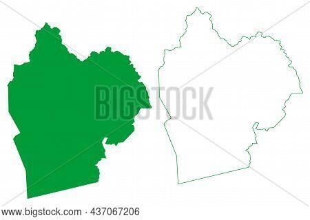 Caturama Municipality (bahia State, Municipalities Of Brazil, Federative Republic Of Brazil) Map Vec