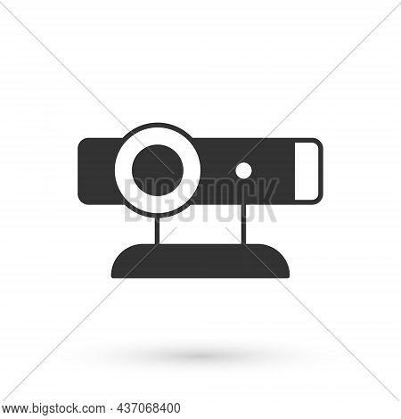 Grey Web Camera Icon Isolated On White Background. Chat Camera. Webcam Icon. Vector