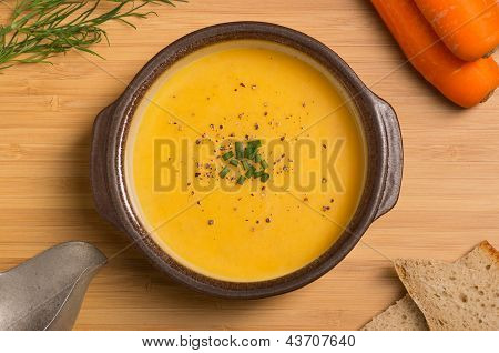 Fresh Vegan Carrot And Potato Soup