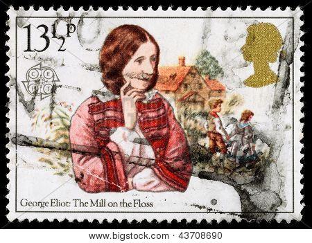 Britain George Eliot Postage Stamp