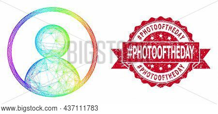 Rainbow Vibrant Net User Portrait, And Tag Photooftheday Grunge Ribbon Stamp Seal. Red Stamp Seal In