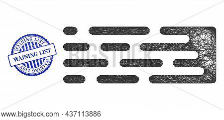 Vector Net Transition Trail Framework, And Waining List Blue Rosette Unclean Seal Print. Hatched Fra