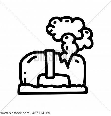 Gas Pipeline Accident Line Vector Doodle Simple Icon